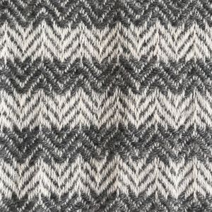 **Cashmere Gray Scarf with Chevron Weave